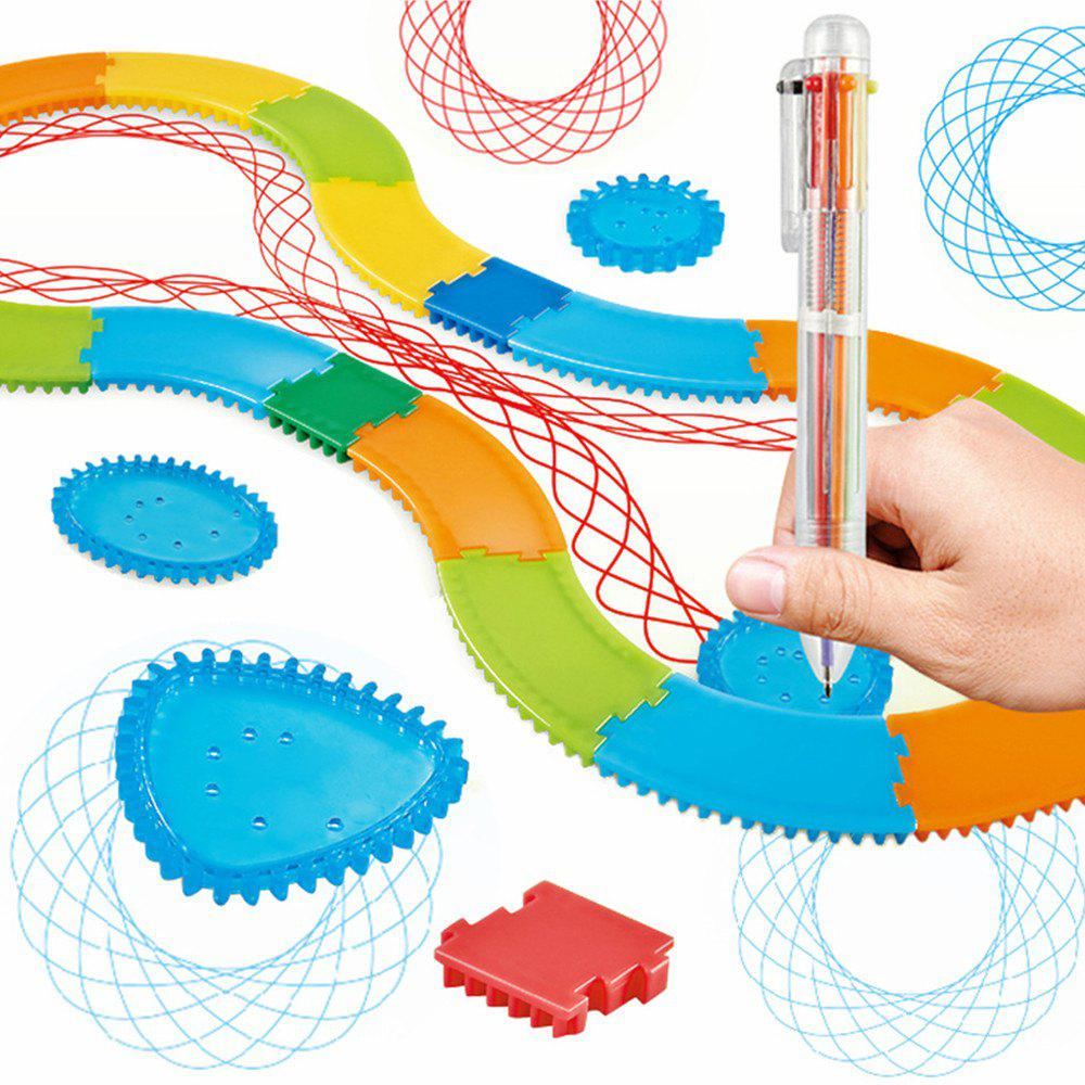 Outfit Creative Art Track Painting Ruler Set Children Educational Toy