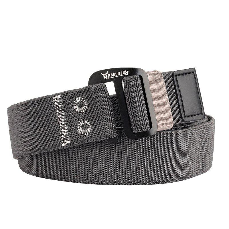 Sale ENNIU Alloy Buckle Thick Canvas Belt