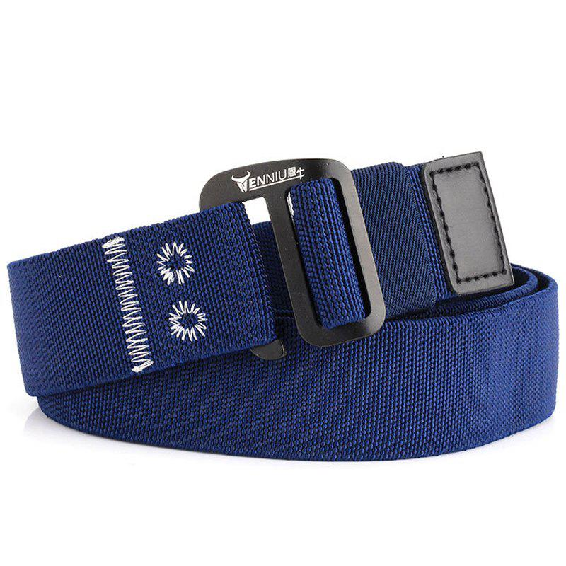 Chic ENNIU Alloy Buckle Thick Canvas Belt