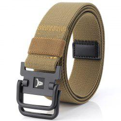 ENNIU Double Buckle Stretch Durable Weaving Nylon Elastic Belt -