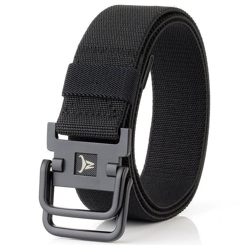 Fashion ENNIU Double Buckle Stretch Durable Weaving Nylon Elastic Belt