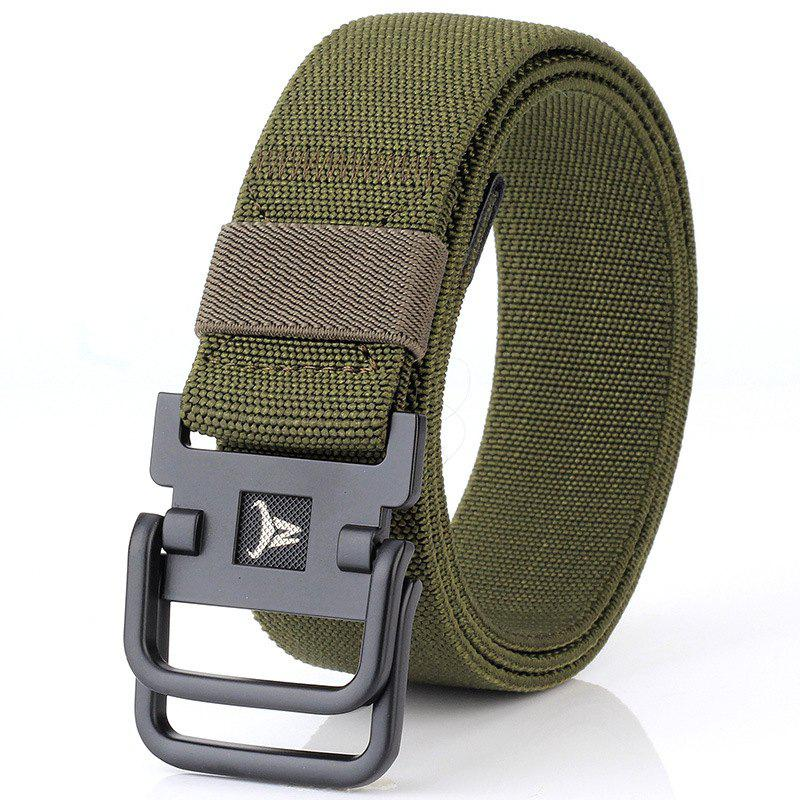 Shops ENNIU Double Buckle Stretch Durable Weaving Nylon Elastic Belt