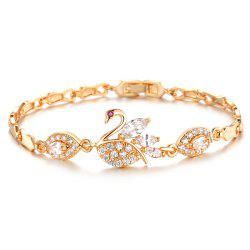 Women Bracelets Gold Color Link Chain  Jewelry Romantic Gift -
