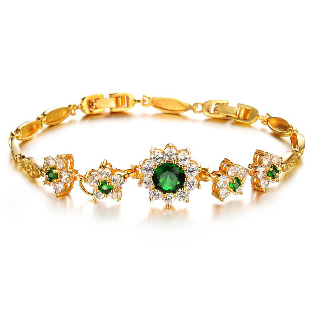Affordable Simple and Beautiful Zircon Exquisite Girl Jewelry Gift Bracelet