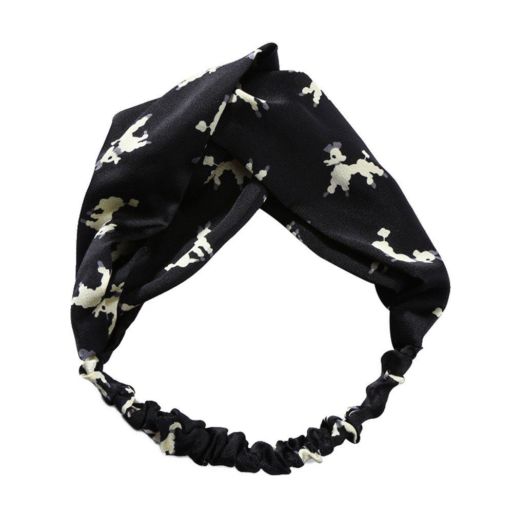 Buy Solid Color Puppy Lady Travel Yoga Exercise Elastic Cross Hairband