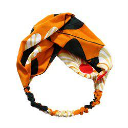 Solid Color Sun Flower Elastic Cross Hairband -