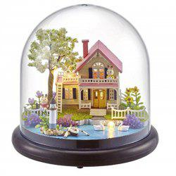 DIY House Kit Creative Room with Furniture and Glass Cover for Romantic -
