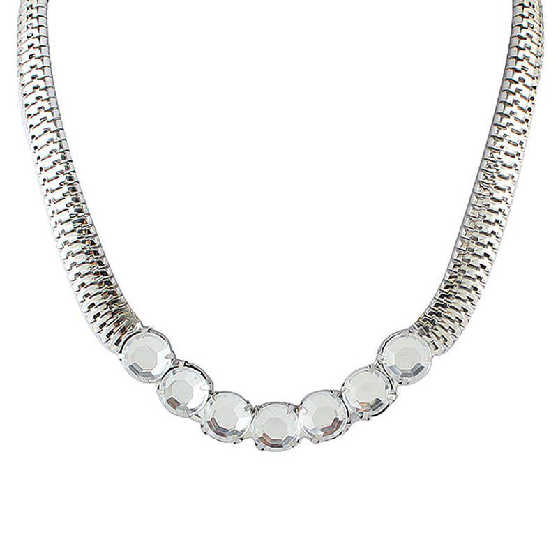 Individual Metal Chain with Gemstone Necklace for Women