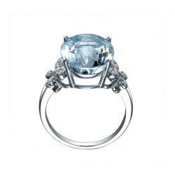 Large Gemstone Butterfly Crystal Ring -