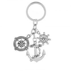 Best Selling Retro Compass Rudder Anchor Keychain -