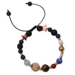 Universe Solar System Colorful Beads Bracelet -