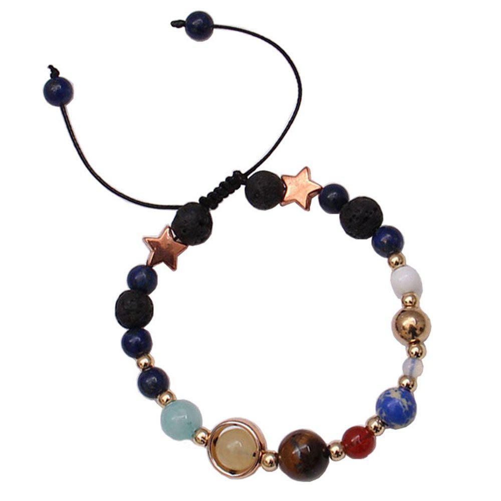 Affordable Universe Solar System Colorful Beads Bracelet