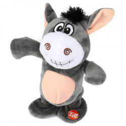 Cute Electric Voice Recording Donkey Can Speak and Talk Interactive Plush Toys -