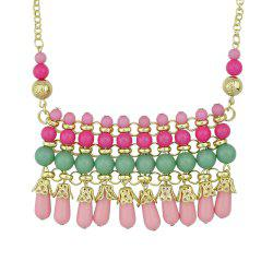 Metal Chain with Beautiful Colorful Bead Pendant Necklace -
