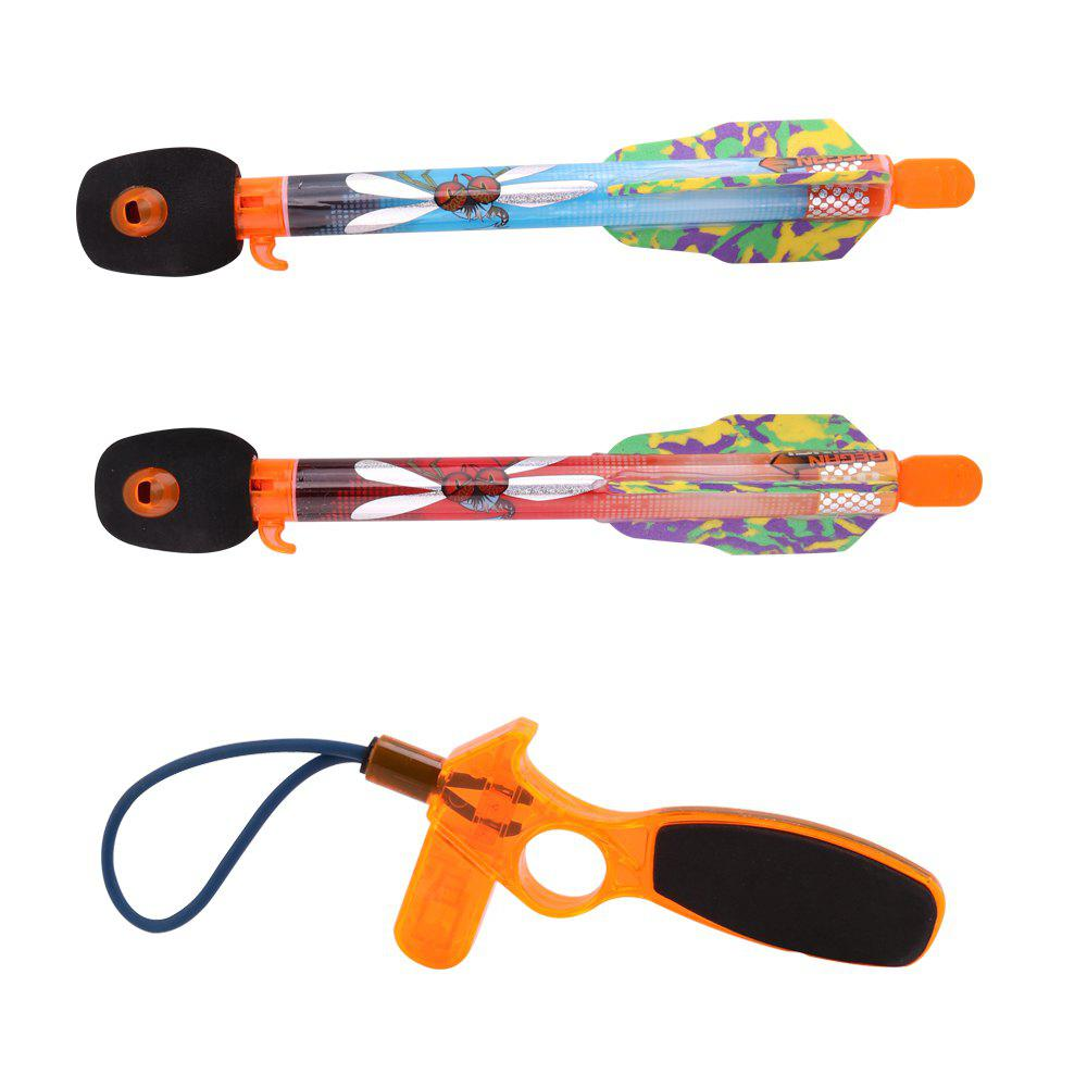 Fashion 2PCS Children Boys Flying Arrow Rocket Sreaming Whistle Action Super Sky Toy