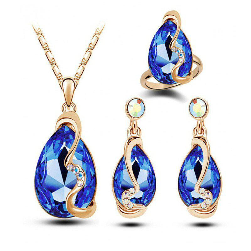Latest Fashion Party Accessories Earrings Pendant Necklace Ring Jewelry Set