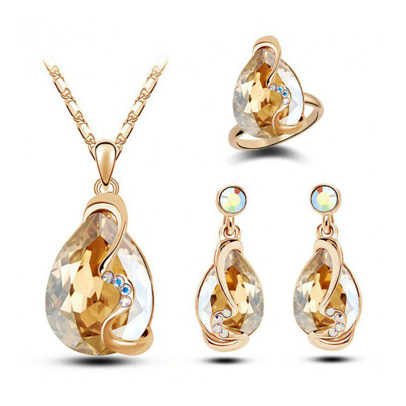 Store Fashion Party Accessories Earrings Pendant Necklace Ring Jewelry Set