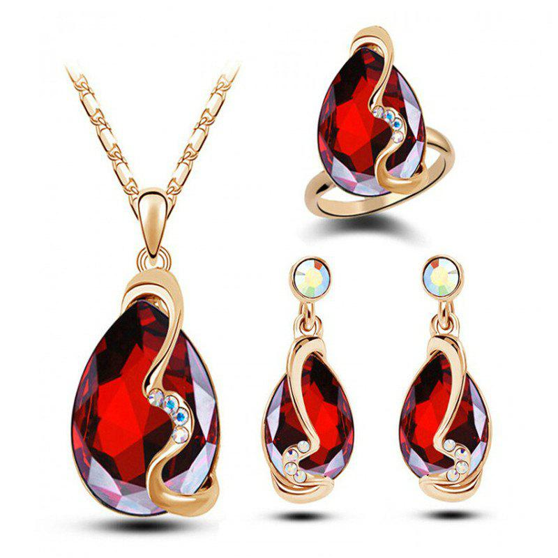 Sale Fashion Party Accessories Earrings Pendant Necklace Ring Jewelry Set