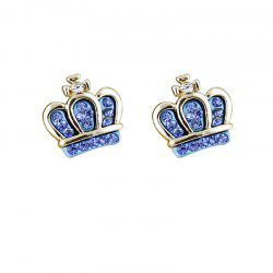 Small Lovely Full Rhinestone Earrings for Women -
