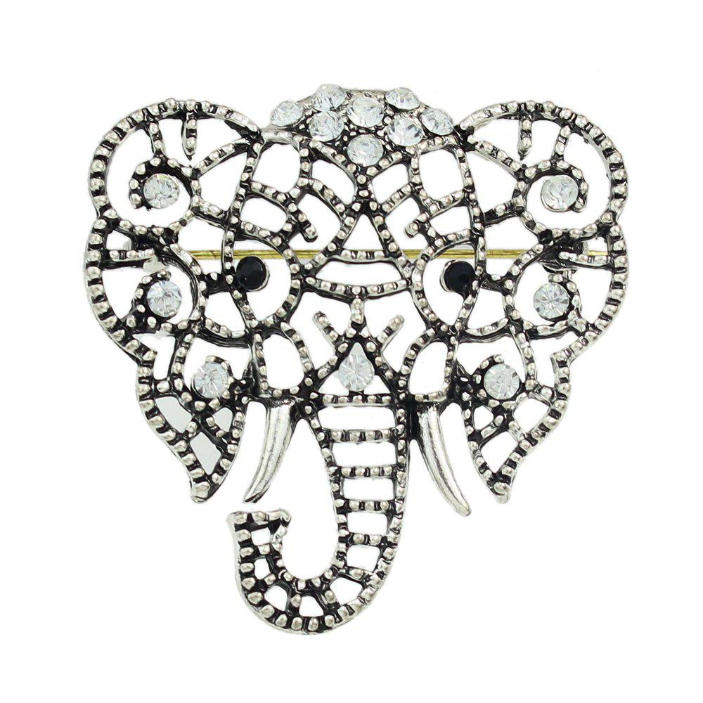 Discount Hollow-out Elephant Full Rhinestone Brooch