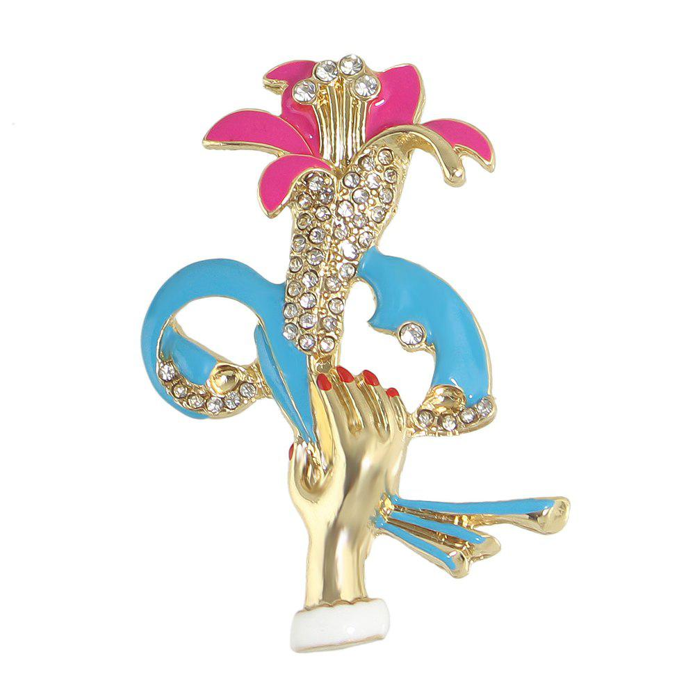 Hot Beautiful Colorful Enamel  Flower Brooch for Women
