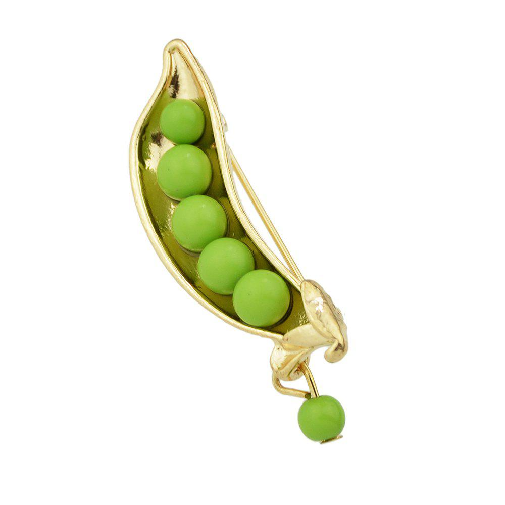Outfits Lovely Bead Peas Shape Brooch for Women