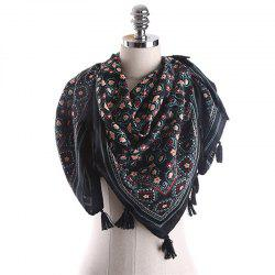 Spring and Summer Cotton and Linen Ethnic Style Sunscreen Scarf -