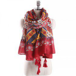 Spring and Autumn Fashion Ethnic Style Printed Pattern Warm Scarf -