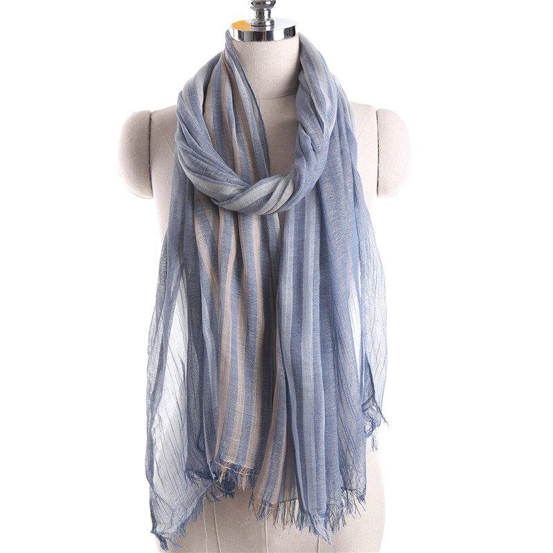 Fashion Summer Fashion Stripe Pattern Prevent Bask Scarf