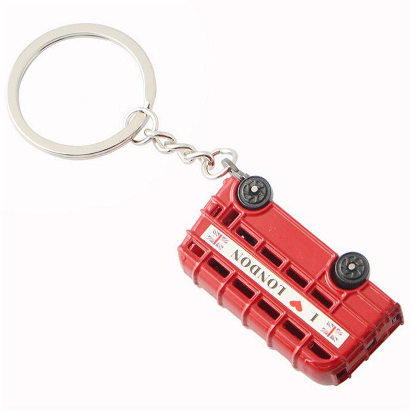 Chic Best Selling Personality Double-decker Bus Car Keychain