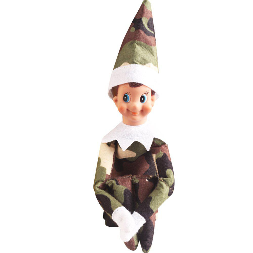 Unique Elf Doll Plush Toy Multi Colors Christmas Gift for Kids Home Shelf Decoration