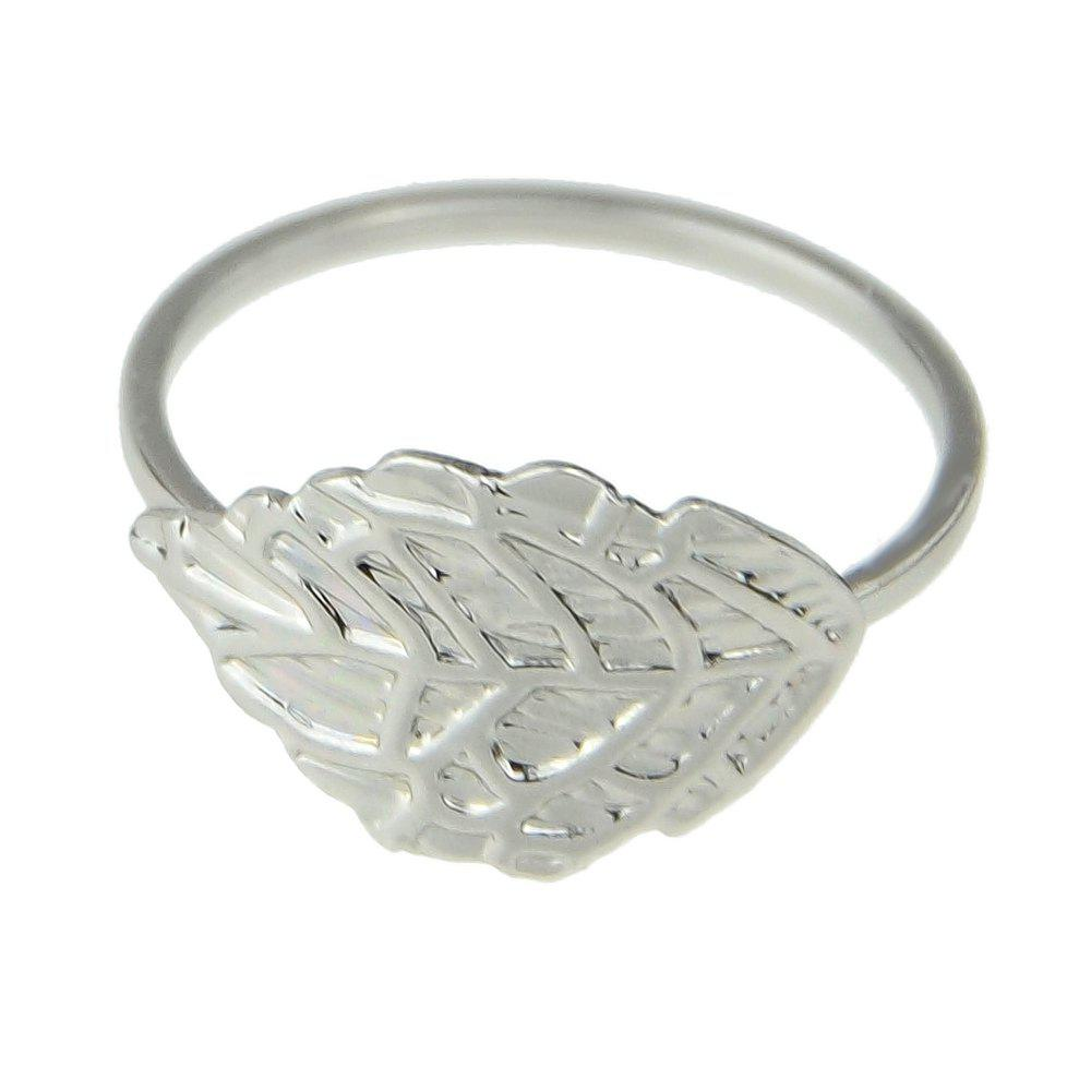 Outfit Minimalist Metal Leaf Finger Ring for Women