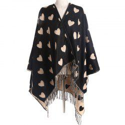 Fashionable Simplicity in Autumn and Winter Heart Imitation of Cashmere Scarf -