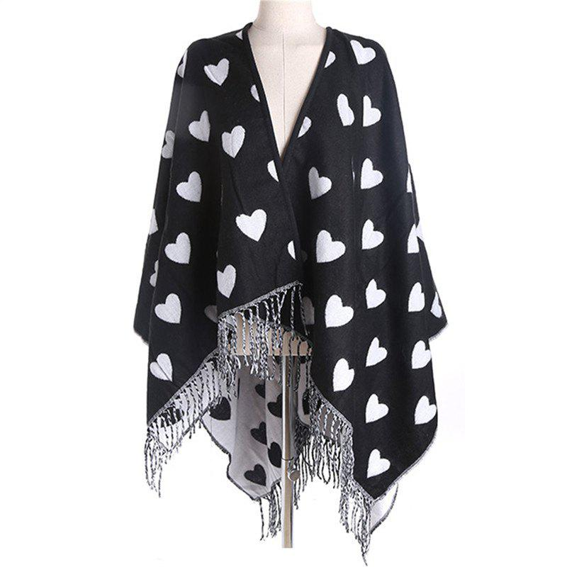 Shops Fashionable Simplicity in Autumn and Winter Heart Imitation of Cashmere Scarf