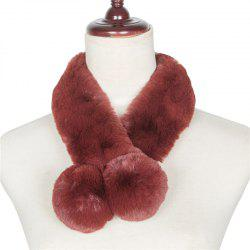 Autumn and Winterof The New Pure Color Warm Wool Collar Scarf -
