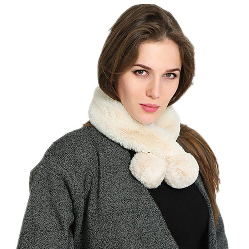 Hot Autumn and Winterof The New Pure Color Warm Wool Collar Scarf