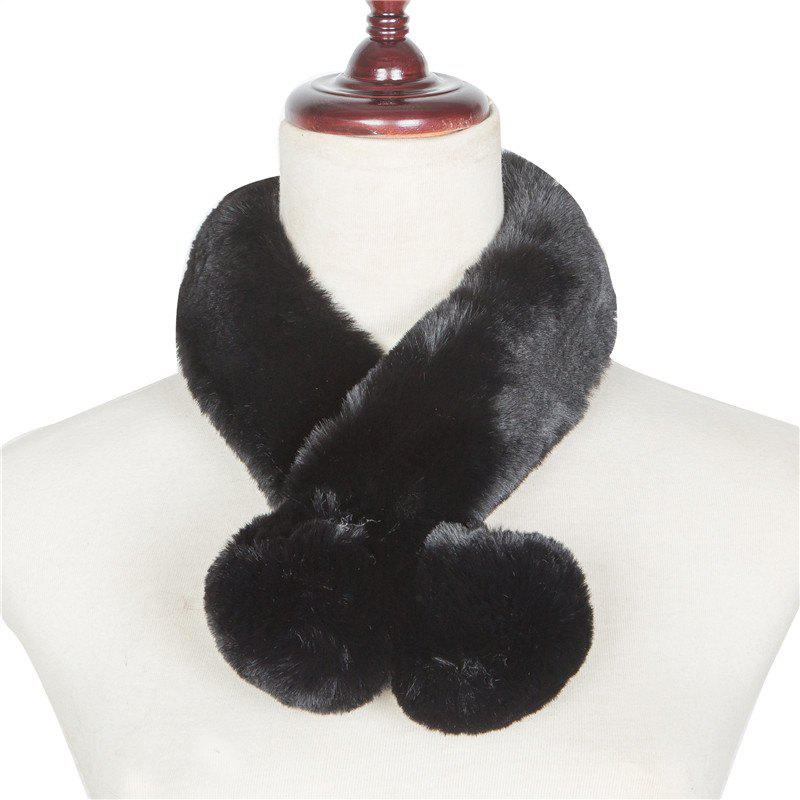 Unique Autumn and Winterof The New Pure Color Warm Wool Collar Scarf