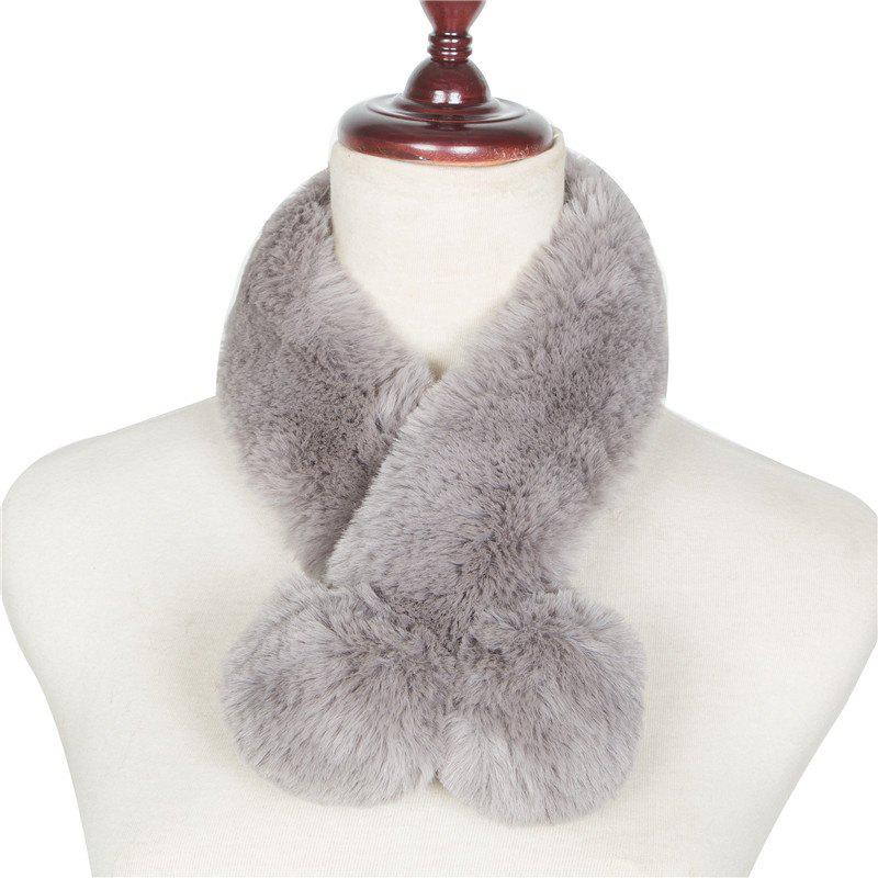 Best Autumn and Winterof The New Pure Color Warm Wool Collar Scarf