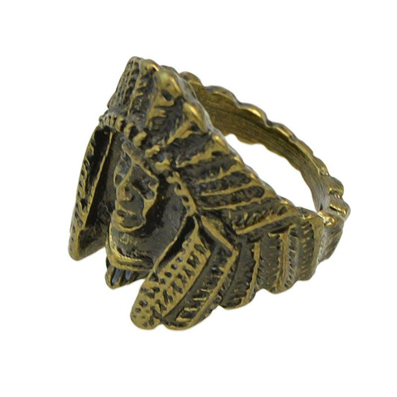 Affordable Fashion Ancient Egyptian Metal Head Ring