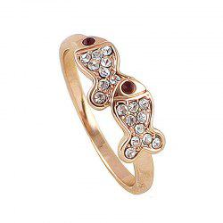 Lovely Metal Pisces Full Rhinestone Finger Ring -