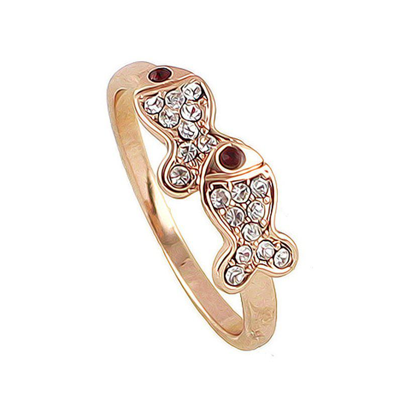 Shop Lovely Metal Pisces Full Rhinestone Finger Ring