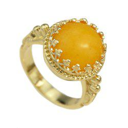 Fashion Colorful Resin Round Bead Finger Ring -