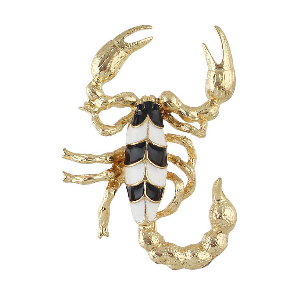 Shop Fashion Colorful Enamel Scorpion Brooch for Women