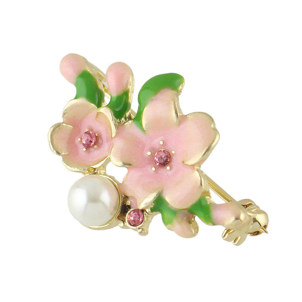 Shop Sweet Colorful Enamel Cherry Blossoms Brooch for Women