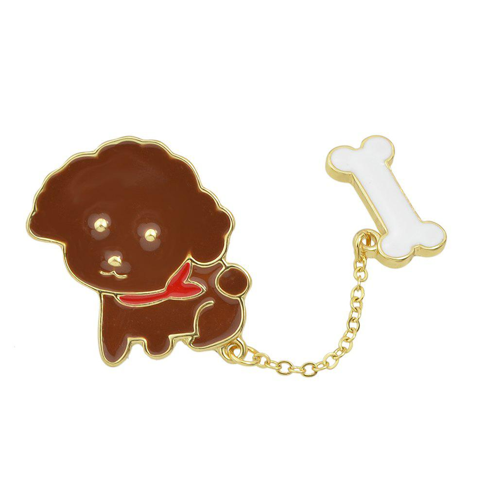 Store Cute Colorful Enamel Dog Bone Brooches for Women