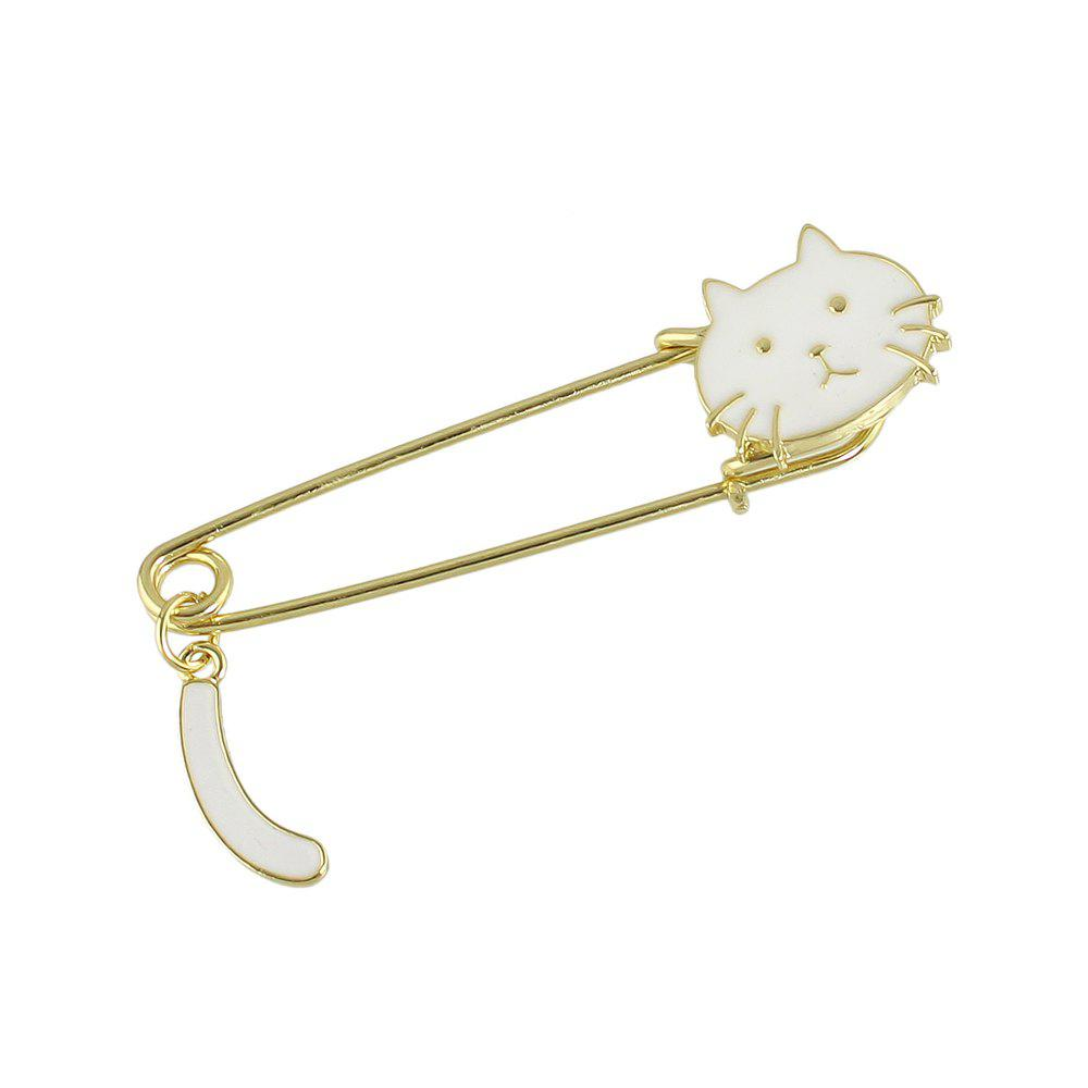 Fancy Lovely Enamel Cute Cat Brooch Pins for Women