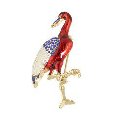 Fashion Multicolors Enamel Crane Brooch for Lady -