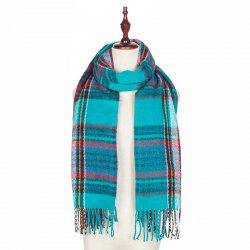 Autumn and Winter The New Lattice Tassel Imitation of Cashmere Scarf Shawl -