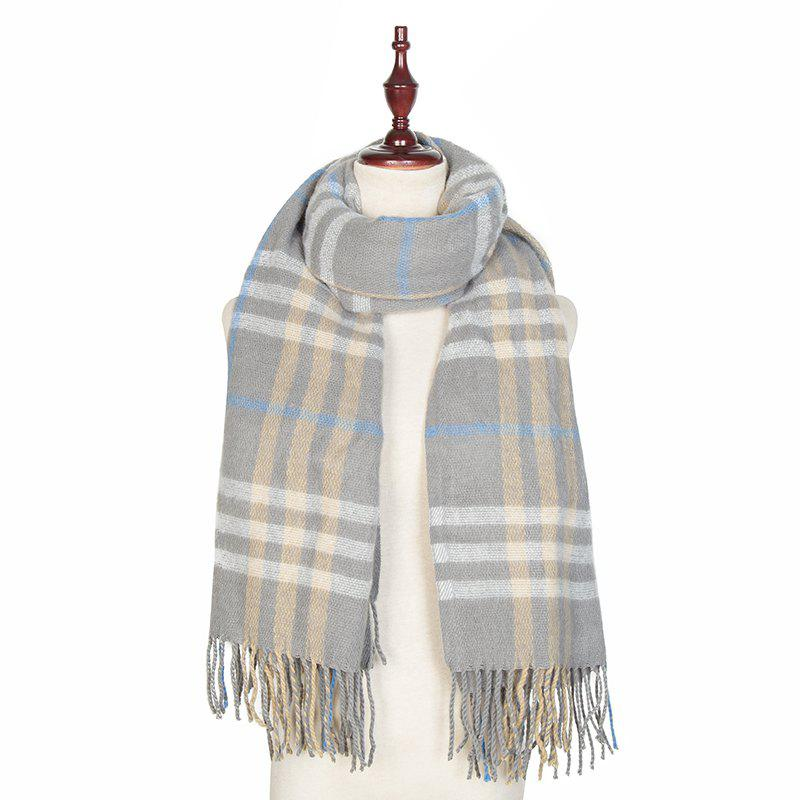 Sale Autumn and Winter The New Lattice Tassel Imitation of Cashmere Scarf Shawl