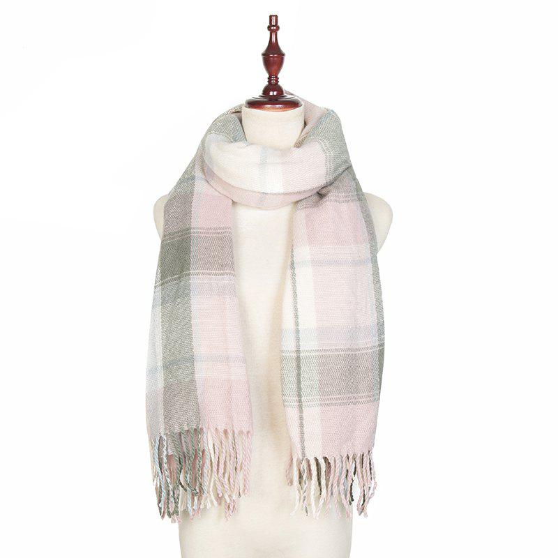 Fancy Autumn and Winter The New Lattice Tassel Imitation of Cashmere Scarf Shawl